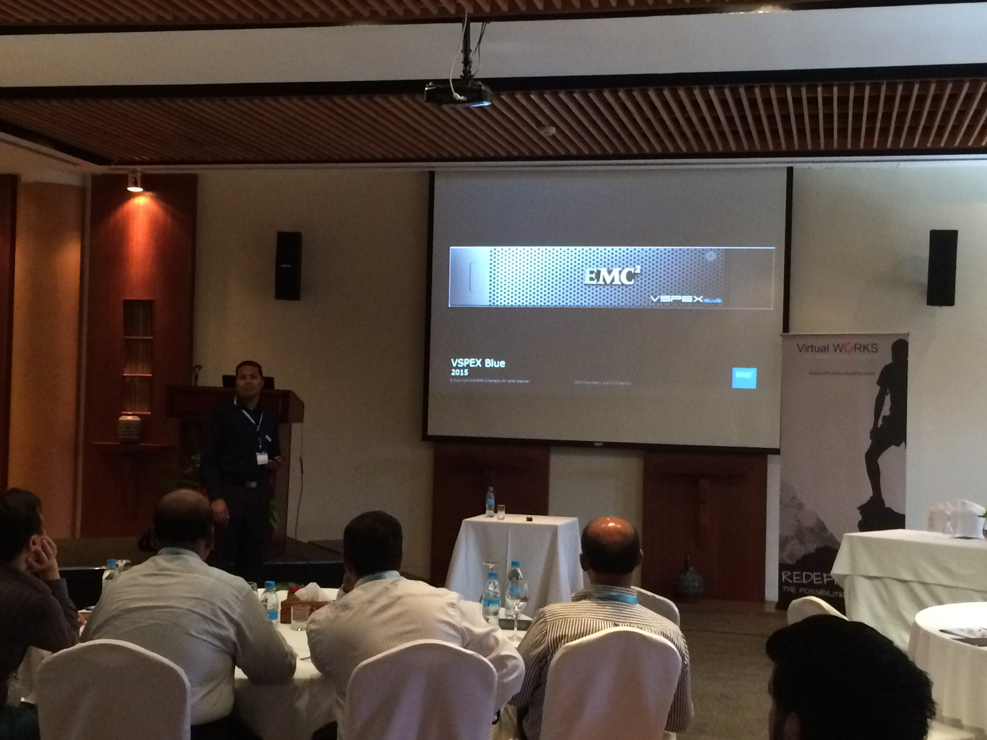 Virtual Works and EMC hosted a data centre technology event in Mauritius - April 2015